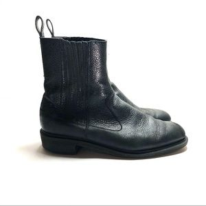 dr martens black leather eleanor Chelsea boots 10